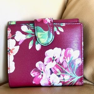 GUCCI Blooms Continental Leather Wallet for Women
